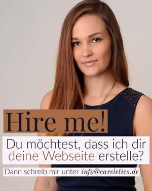Beauftrage mich, dir deine Webseite zu erstellen.