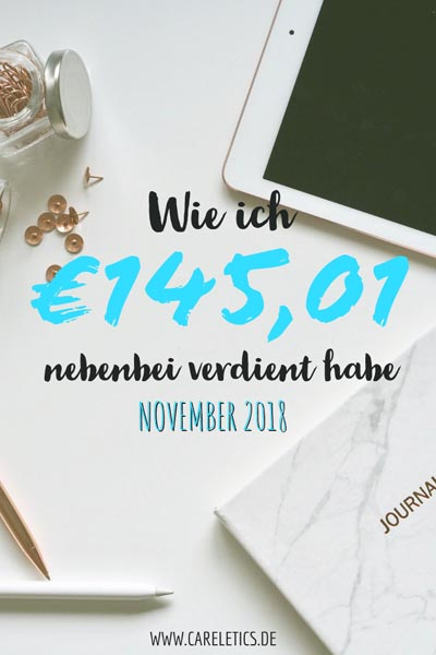 Blog Einkommen im November 2018 - careletics