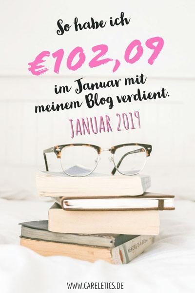 Blog-Einnahmen im Januar 2019 – careletics