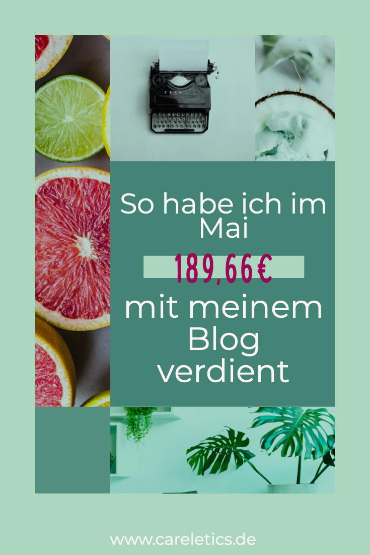Mein Blog Verdienst im Mai 2019 – careletics