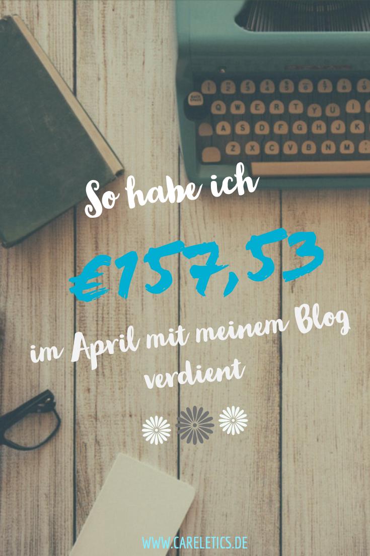 So sieht mein Blog Verdienst im April aus - careletics